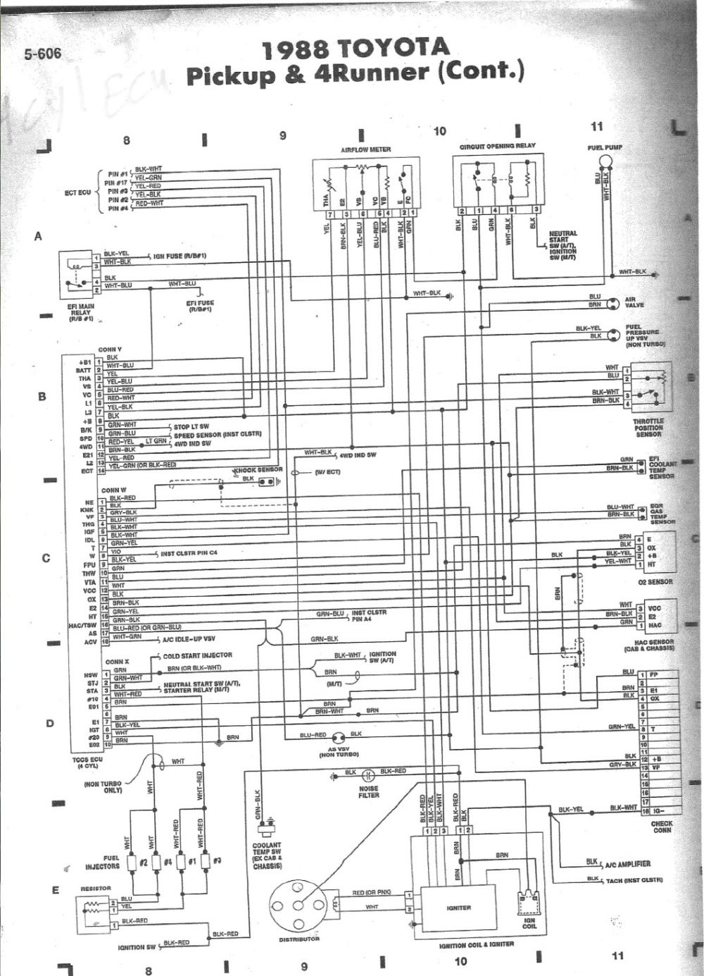 medium resolution of 88 4x4 no really where is the diagnostic connector 88 toyota pickup 22r wiring diagram