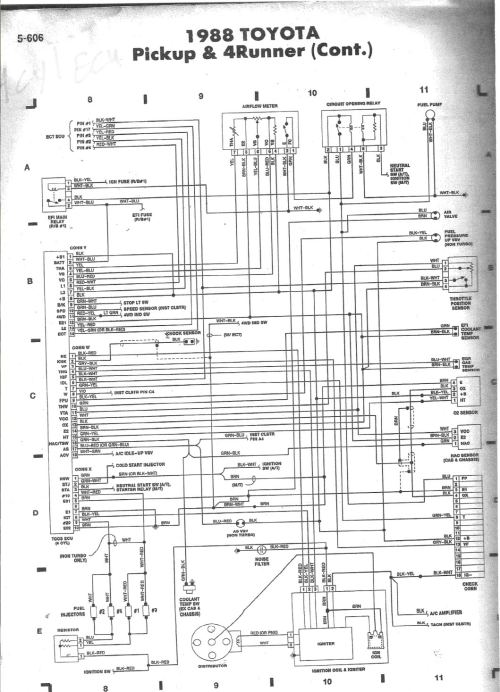 small resolution of 88 4x4 no really where is the diagnostic connector 88 toyota pickup 22r wiring diagram