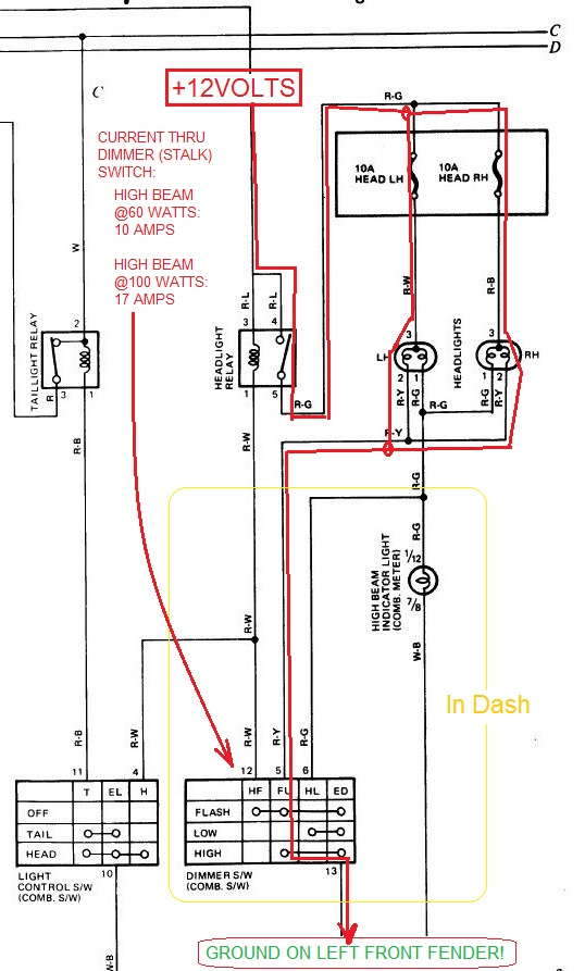 truck lite led headlight wiring diagram bosch oven light converter library conversion yotatech forums