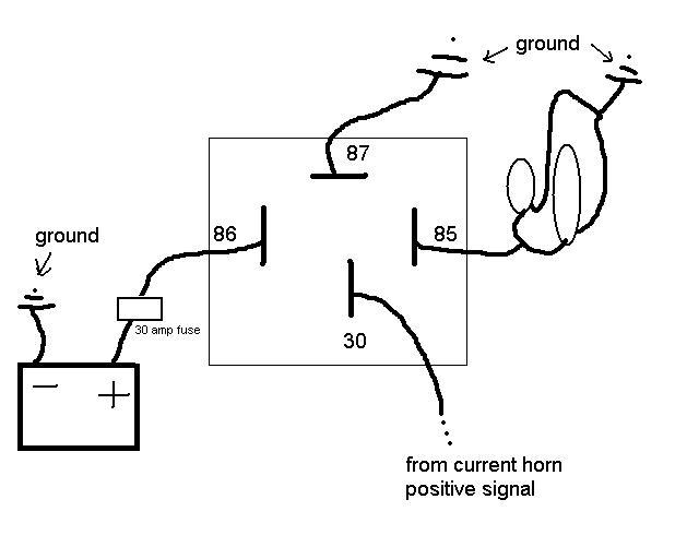 12v Horn Relay Diagram