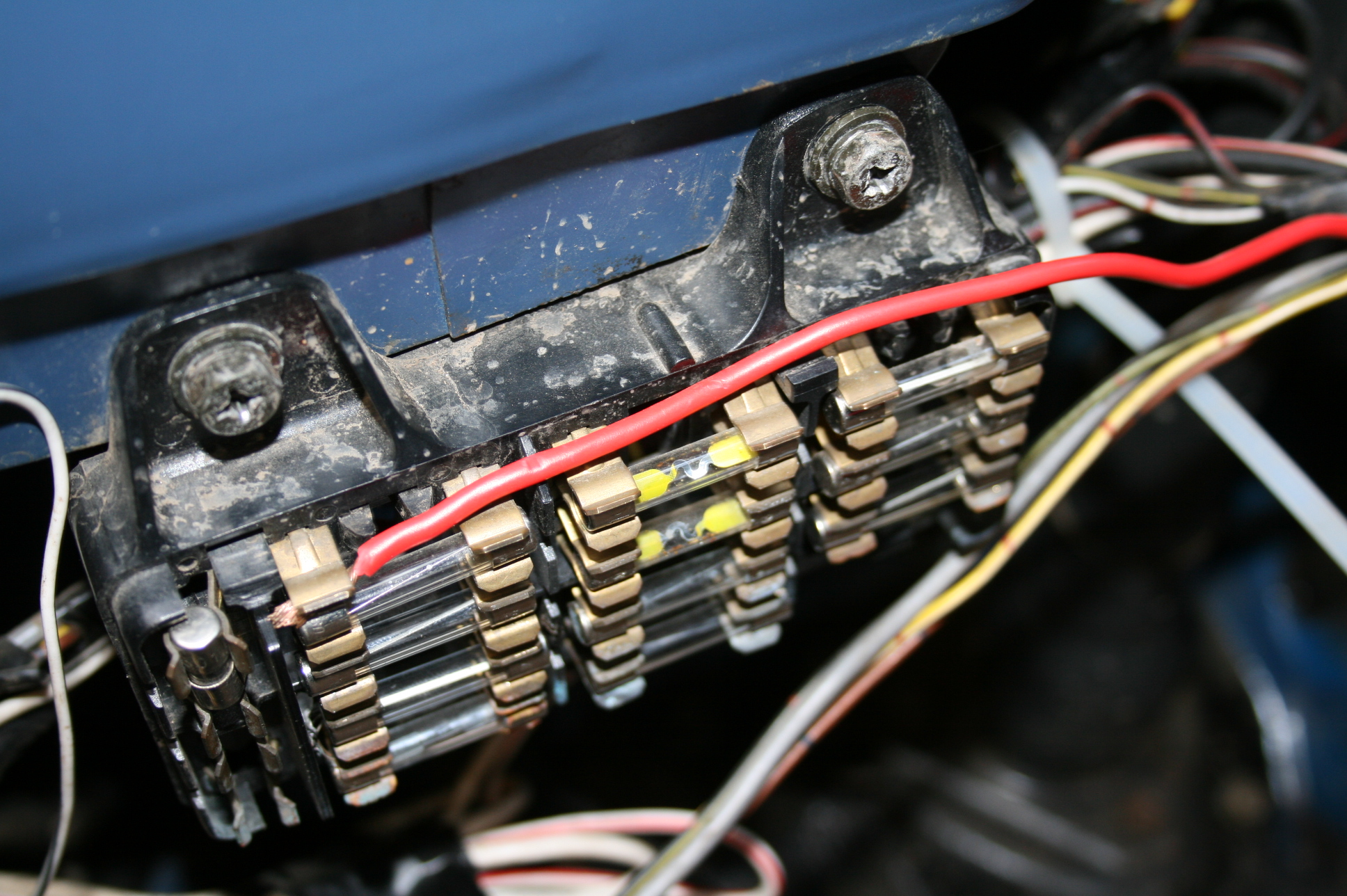 hight resolution of tail light and dash lights fuse box cab driver side