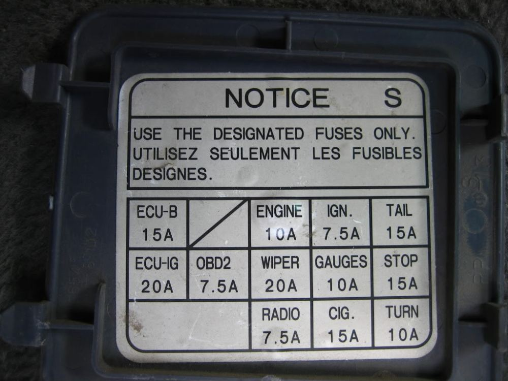 medium resolution of toyota t100 fuse box diagram box wiring diagram toyota corolla fuse box diagram 95 toyota t100 fuse box diagram