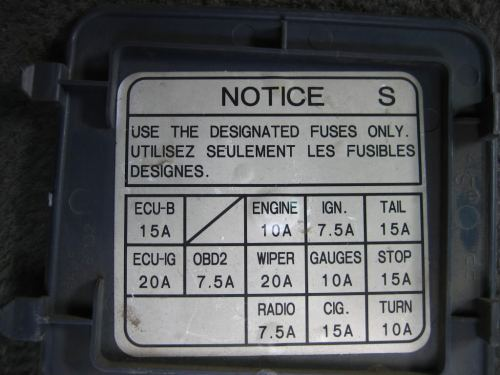 small resolution of toyota t100 fuse box diagram box wiring diagram toyota corolla fuse box diagram 95 toyota t100 fuse box diagram