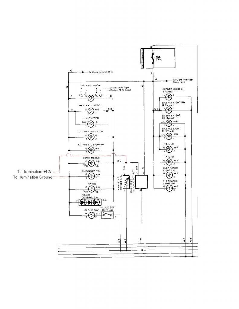 Installing a Tachometer in a 86 4Runner DLX (in progress