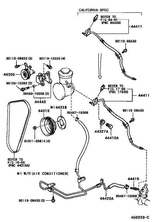 small resolution of power steering hard line s power steering tube 450339c png
