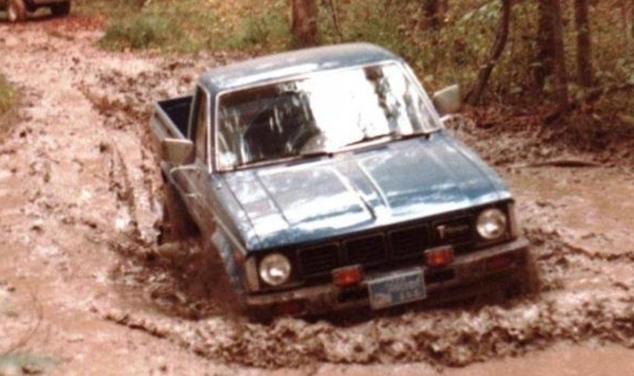 1981 Toyota in Mud