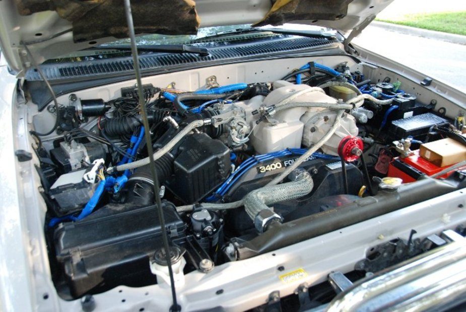 Supercharged 4Runner Engine Bay