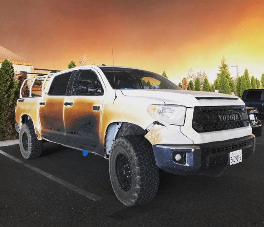 Camp Fire Toyota Tundra
