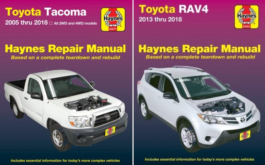 2018 Toyota Tacoma and RAV4 Haynes Manuals