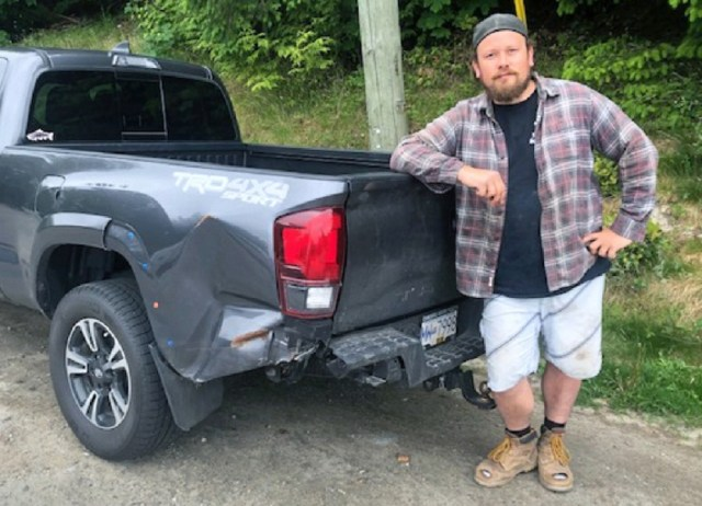 Toyota Tacoma rear ended