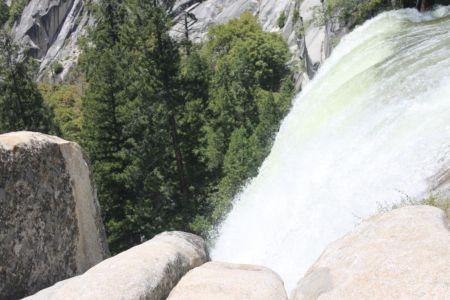 Boven op de Vernal Falls
