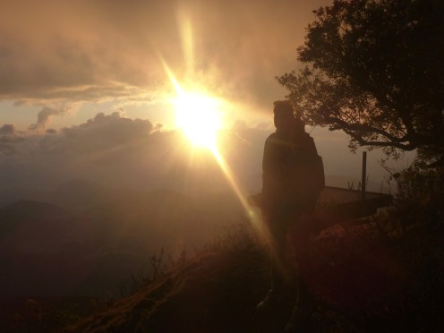 sunrise guatemala volcano