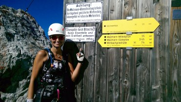 Via ferrata Watzmann signs