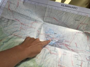 Kilimanjaro map routes