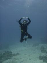 diver dance underwatr