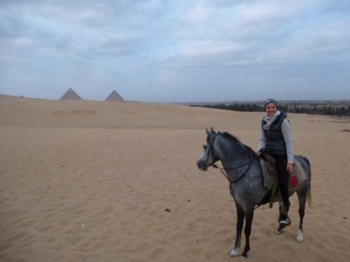 horse riding pyramids