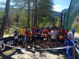 Trailrun starting line Tyrol