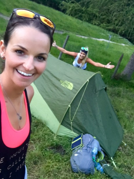 Camping Girls The North Face tent