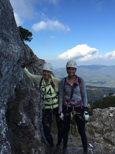 Climbing girls Ferrata