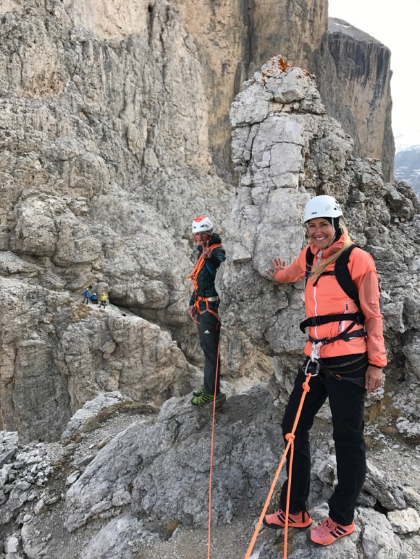 Sella Prima Torre Summit Shooting climbing
