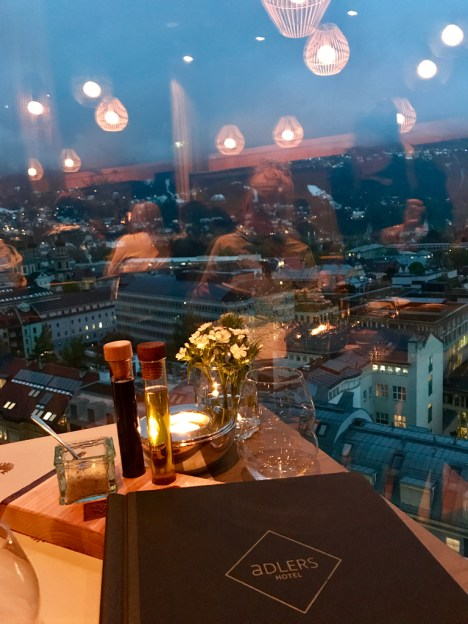 View adlers Innsbruck restaurantt panorama