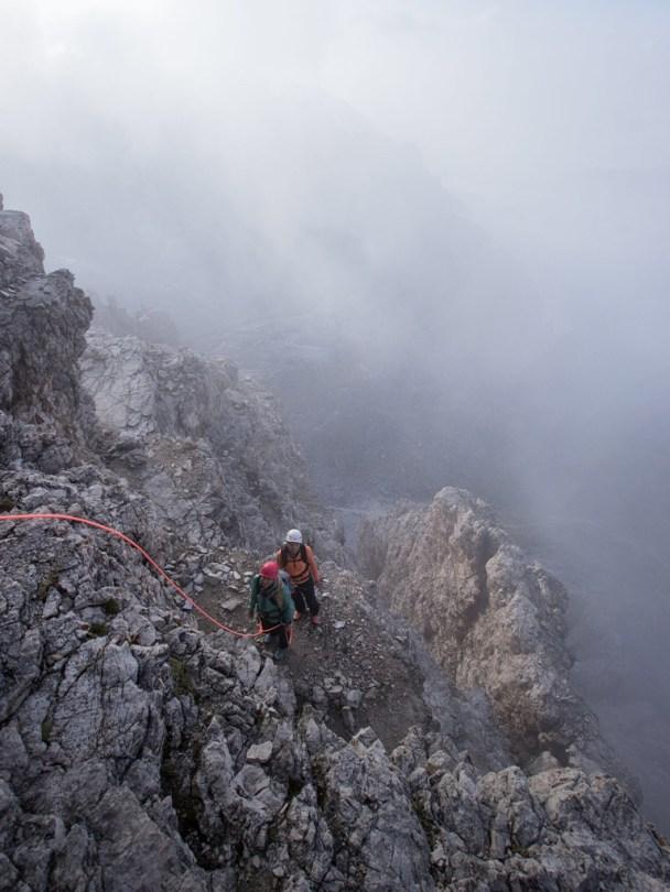 Climbing girls Cima Grande