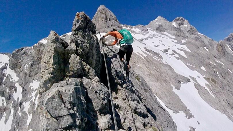 Teufelshörner Königsjodler climbing