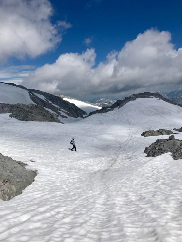 Absteig descent Hochkönig snow Schneefelder spring