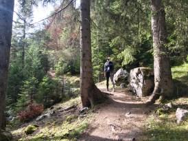 Puittal wandern Wald aufstieg