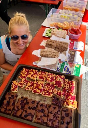 Aid station food Innsbruck Alpine