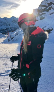 skiing girl Superdry