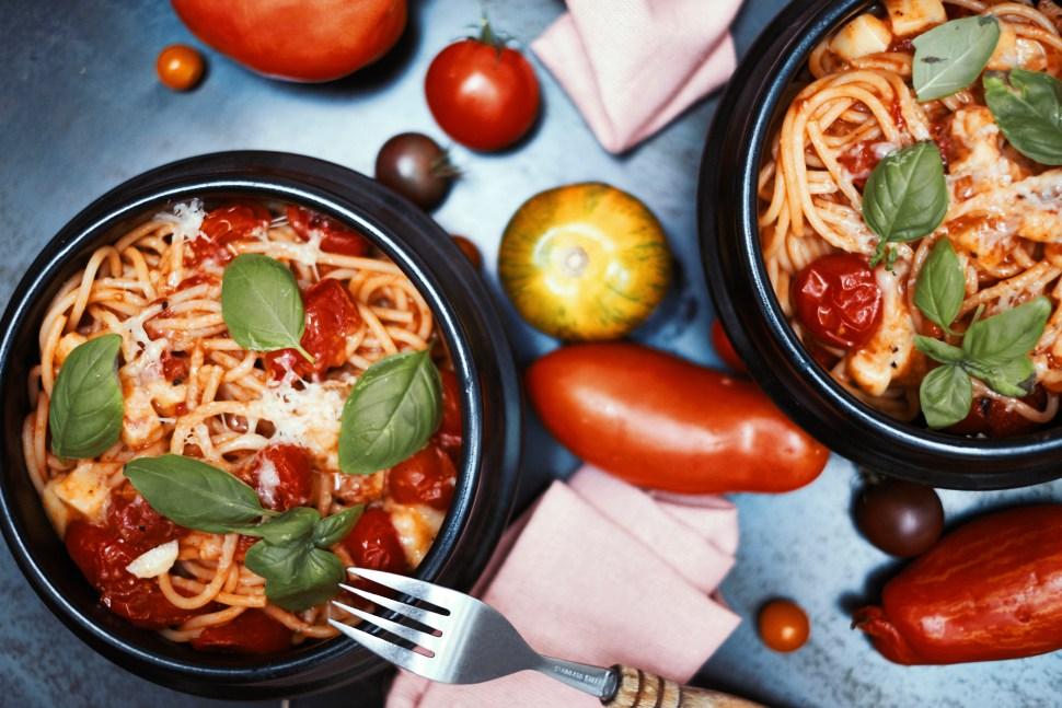 Spaghetti mit Bergkäse