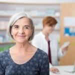 older woman in a pharmacy
