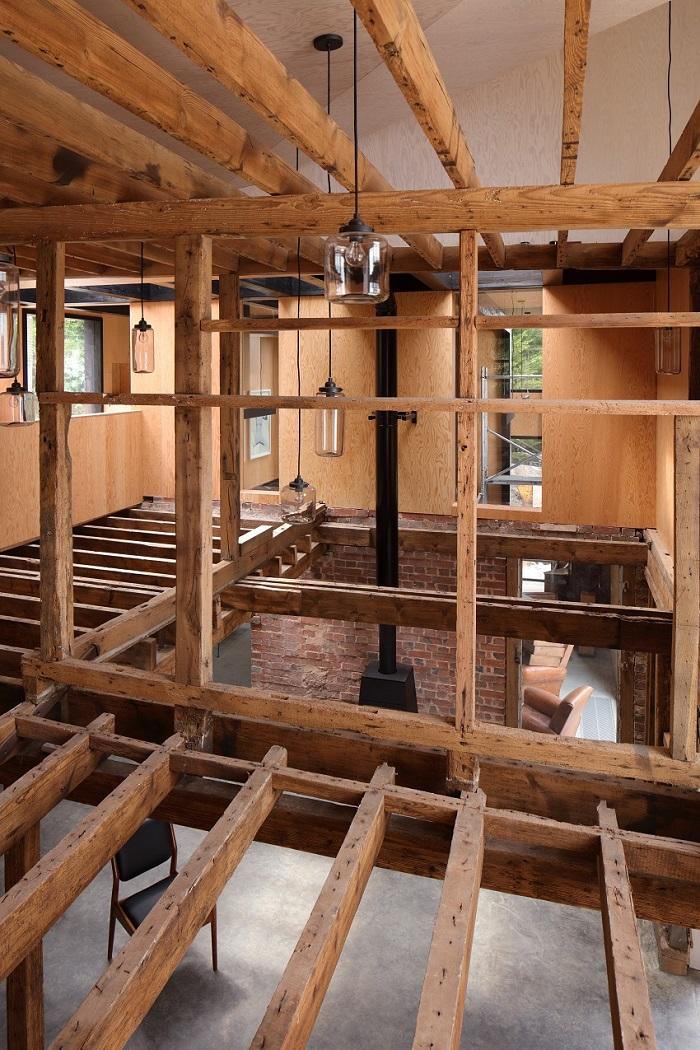 restauro mulino inglese granaio interno