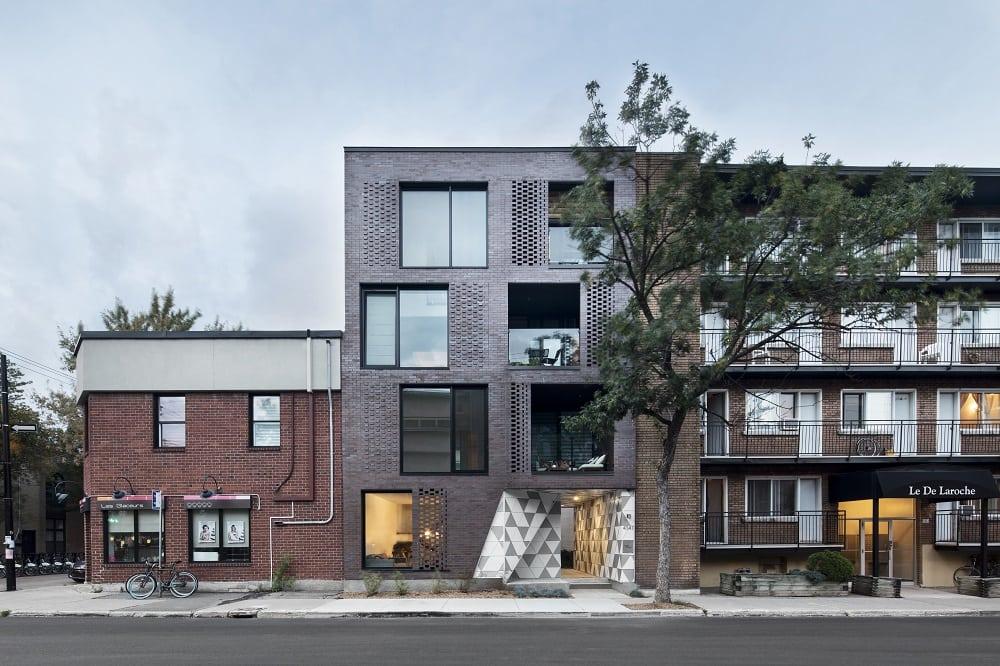 canada casa prospetto in mattoni