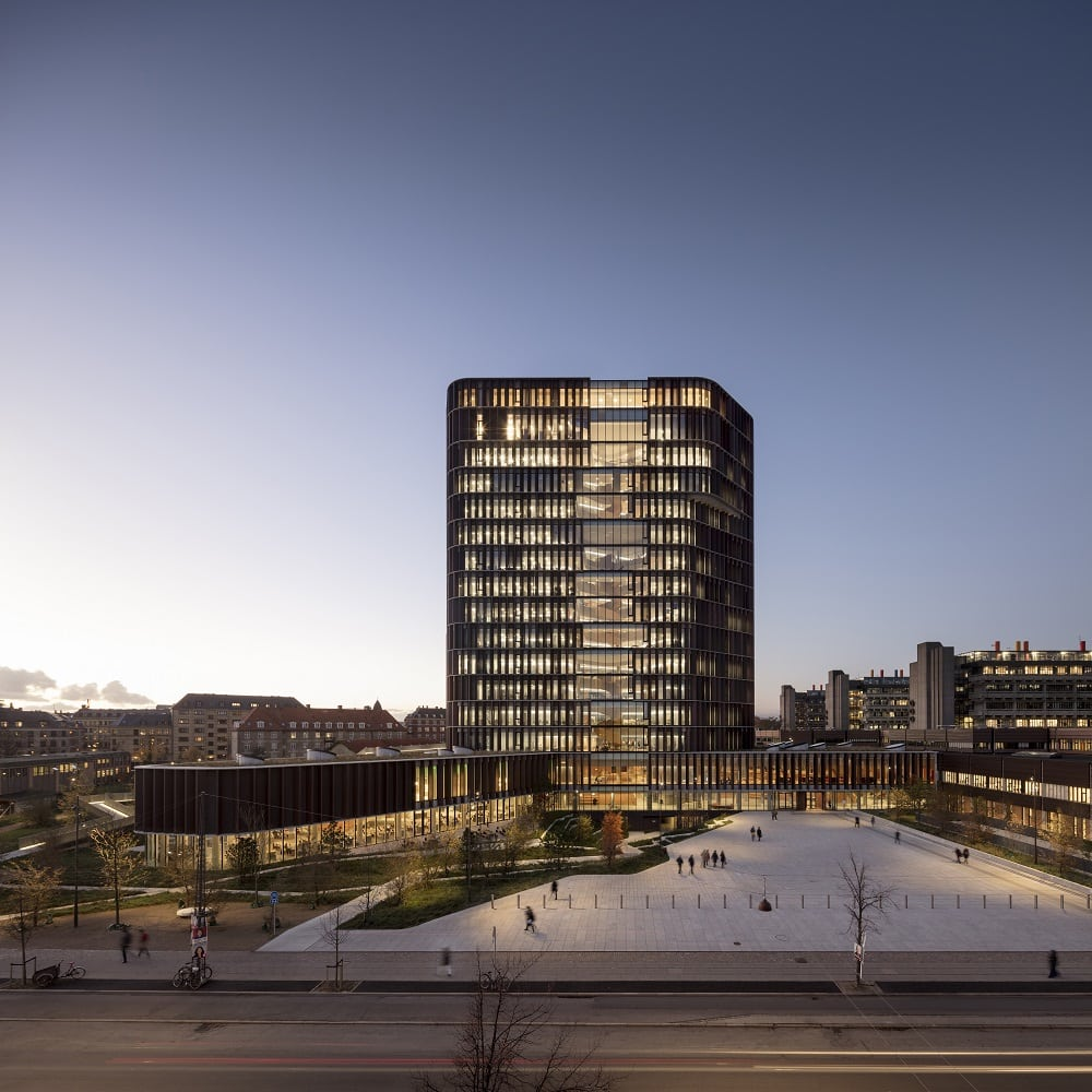 Architettura università copenhagen rivestimento in rame