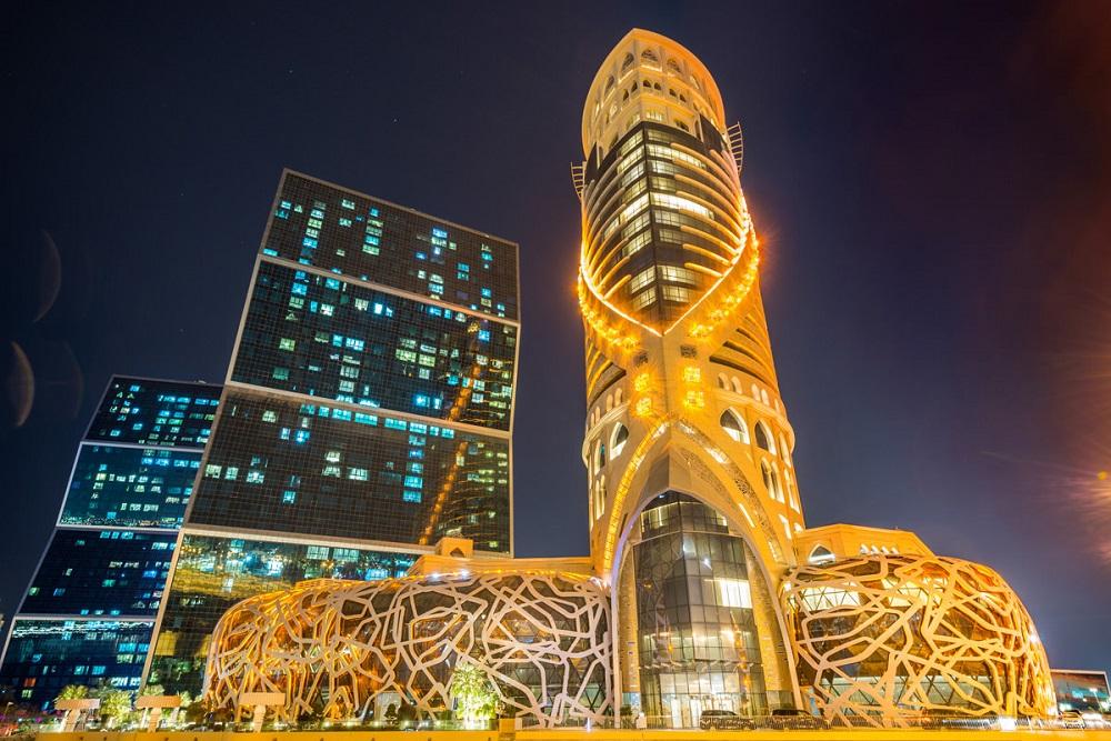 rivestimento ceramico grattacielo qatar esterno