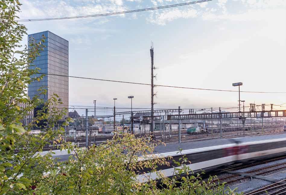 torre basilea vista stazione
