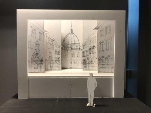 Scenografia, modellino in scala del teatro della prospettiva su Firenze ©Mekane