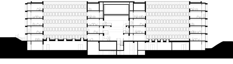kaan architettura sezione uffici