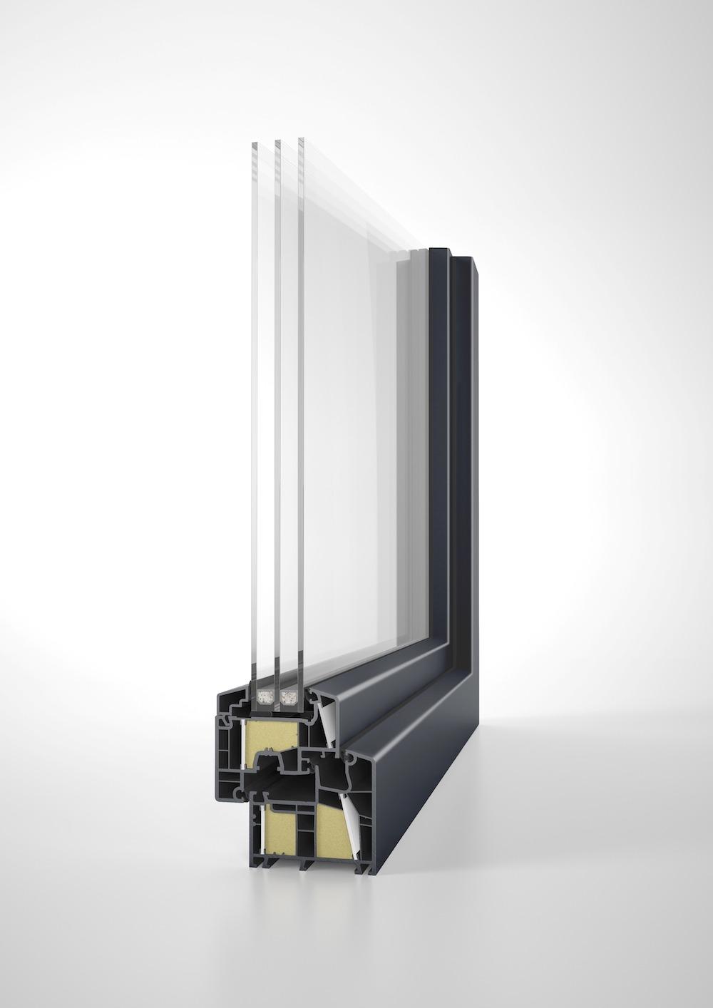 pvc vetro sezione