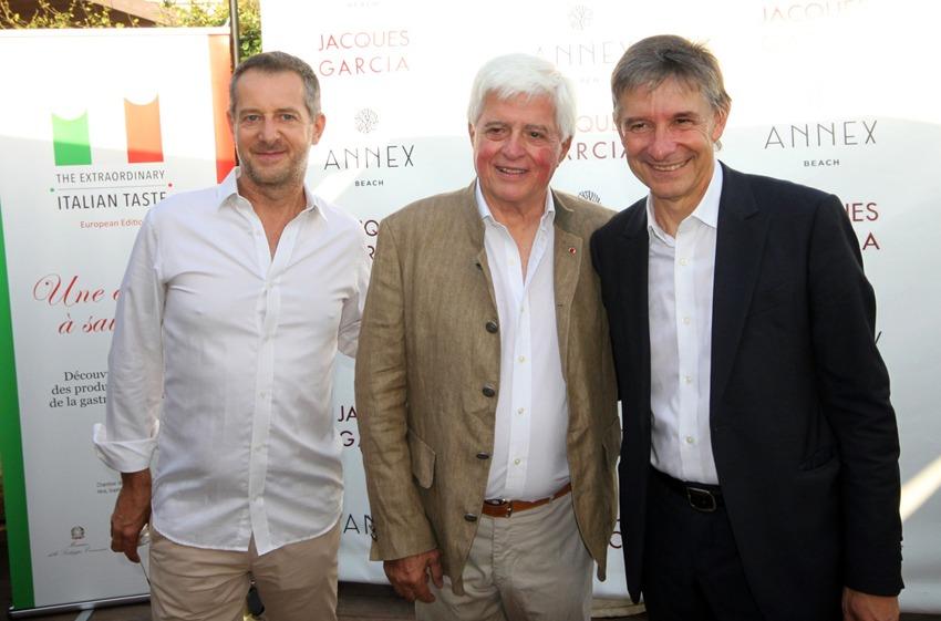 Gianluca Orazio, Ceo di Forme d'acqua con l'architetto e interior designer francese Jacques Garcia