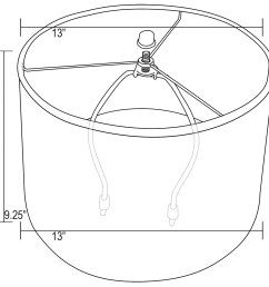 13 in drum lamp shade diagram  [ 1500 x 1483 Pixel ]