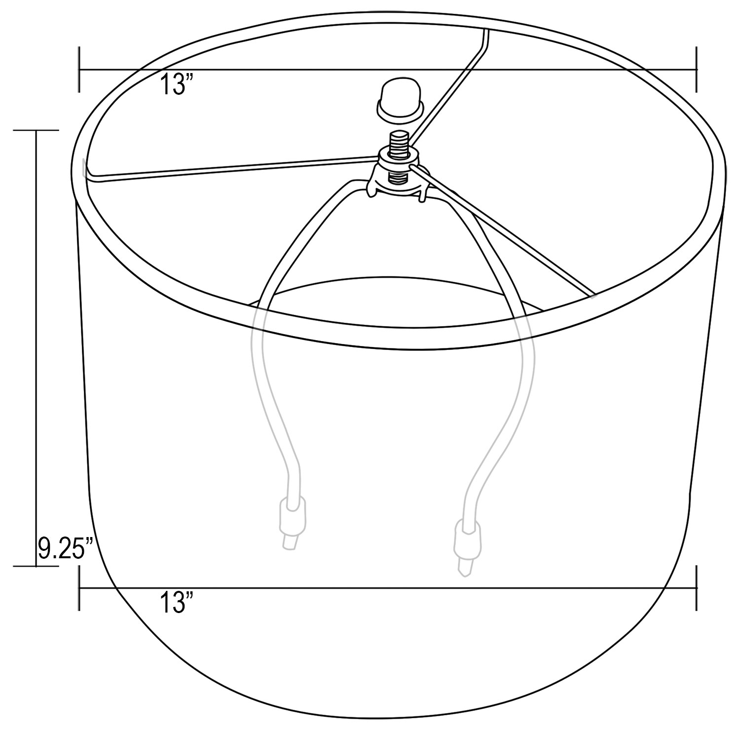 hight resolution of  13 in drum lamp shade diagram
