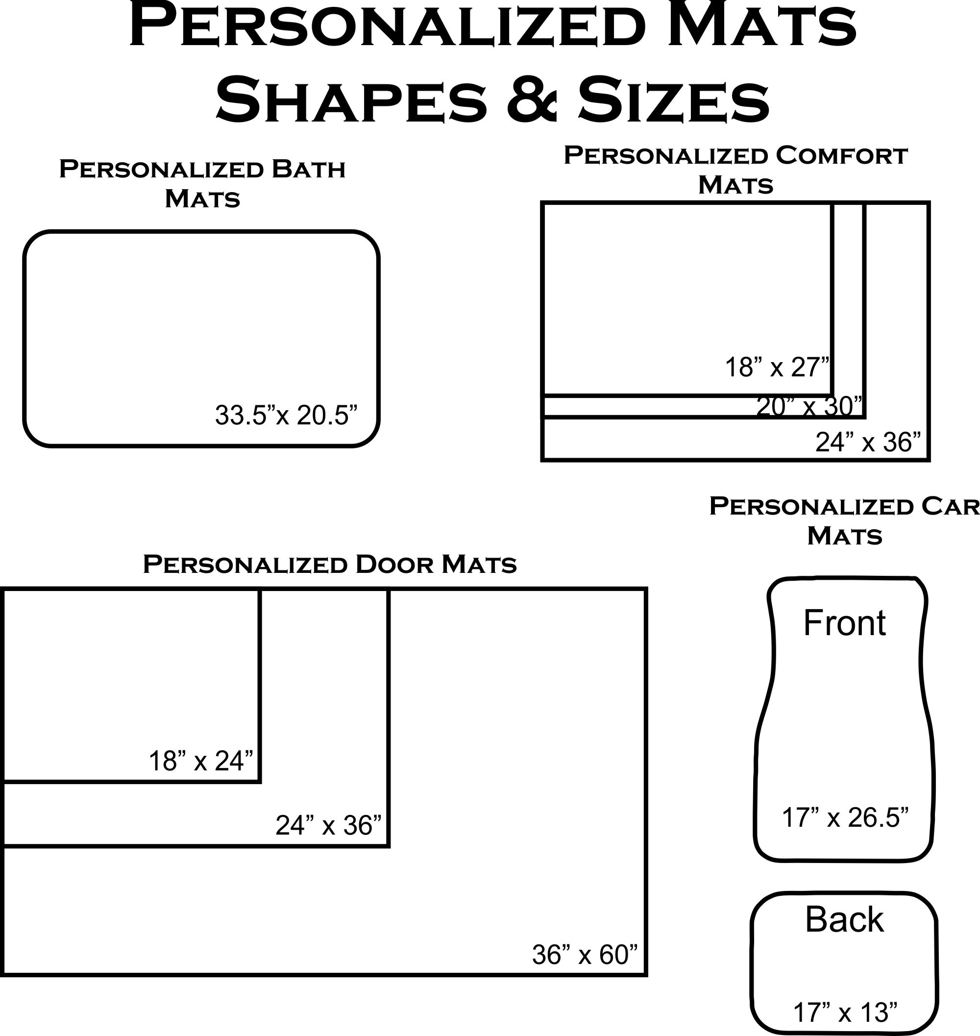 personalized comfort mat