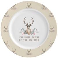 Deer Ceramic Dinner Plates (Set of 4) (Personalized ...