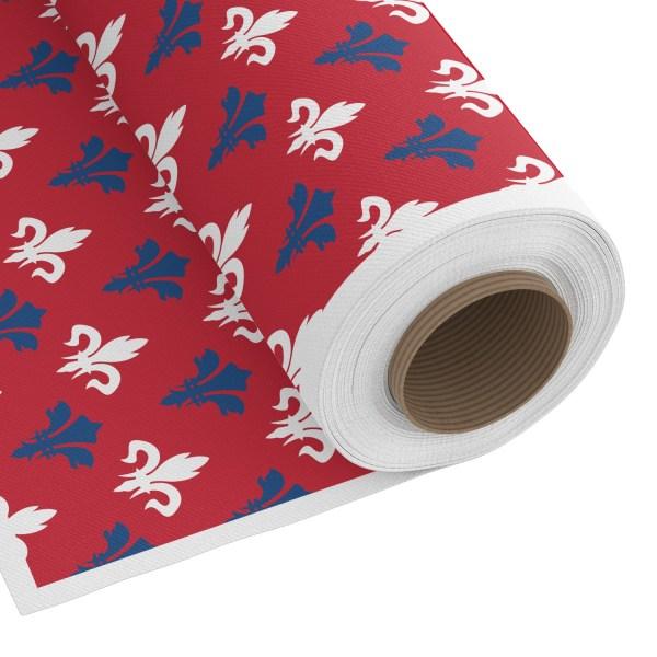 Patriotic Fleur de Lis Custom Fabric - PIMA Combed Cotton (Personalized) - YouCustomizeIt