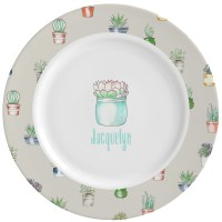 Succulents Ceramic Dinner Plates (Set of 4) (Personalized ...