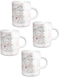 Wedding People Espresso Mugs - Set of 4 (Personalized ...