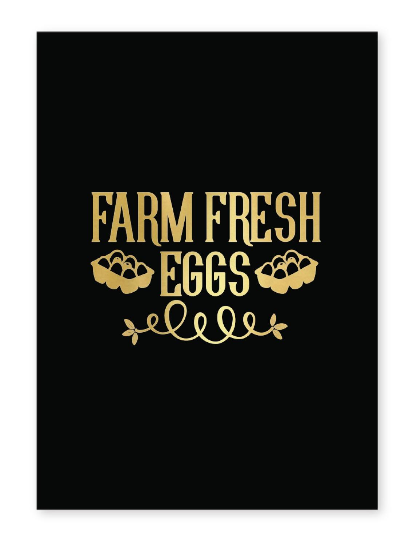 Farm Quotes 5x7 Black Foil Print Personalized
